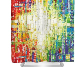 Shower Curtain- Colorful abstract shower curtain art