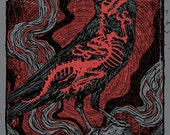 Alice In Chains Crow Dinosaur Bones Skeleton Jerry Cantrell Layne Staley GIGART Poster 2016