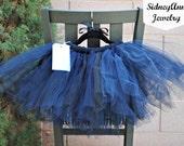 Navy Tulle Tutu Skirt, Little Girl, Flower Girl Tutu, Birthday Party Tutu Skirt, Wedding Day, Photo Shoot, Fluffy Tulle Skirt, Blue, Black