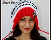 Sale 2.00 - New Release - Crochet Hat Pattern - Slouch Hat Pattern - Easy Crochet Pattern - Childs - Adult Small to Med. - Large to XL
