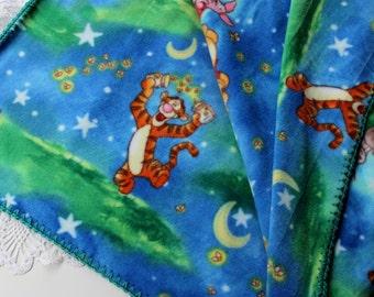 Winnie the Pooh Blanket - Crochet Edge - Fleece Blanket - Baby Shower Gift - Infant Blanket - Baby Blanket - Krissys Trunk Show