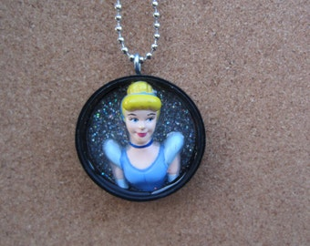 Portrait of Cinderella -  Upcycled Doll Pendant