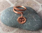 Copper Ring & Om Ring * stamped Om ring*   Square Wire * Yoga Ring
