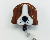 Reserved Listing for ALEdogma Basset Hound Retractable Badge Holder and Shitzu Fused Glass.
