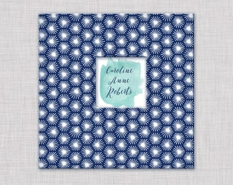 Baby Book, A Unique Modern Baby Book for the First Year (Navy Pattern Cover, 9.25 x 9.5)