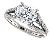 harper ring - forever one moissanite engagement ring, 2 carat oval