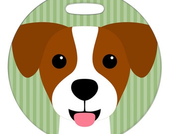 Luggage Tag - Jack Russell - Round Plastic Bag Tag