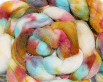 Kettle dyed Corriedale top. Roving. Spin. Felt. 1lb #28