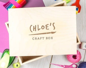 Personalised Children's Art And Craft Box