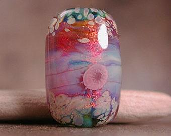 Artisan Glass Focal Bead Fire Opal Divine Spark Designs SRA