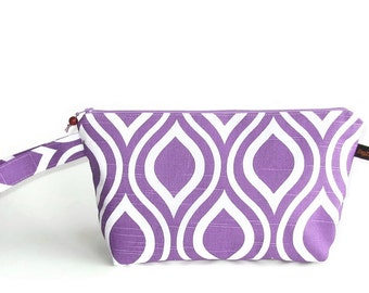 Wedge Bag, Small- Project Knitting Bag, Nicole in purple