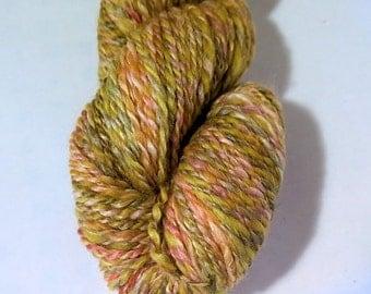 SALE Andalusite, handspun wool and silk yarn, 40 g/126 yds