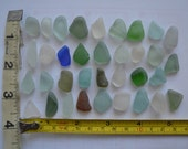 35 pieces of smooth beach sea glass sgl27