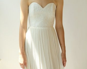 Silk and Lace Gown--Sample Sale--Size 4