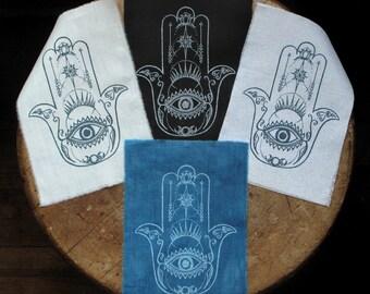 "Hamsa - 5x7"" Screen Printed Sew-On Art Patch"