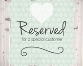 Reserved Order for WLolaWDesigns