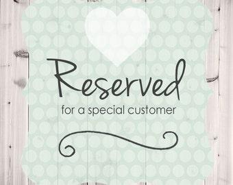 Reserved Order for carmen tanner