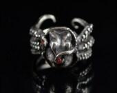 VDay SALE SALE -Kraken 8 with Sapphires, Octopus Ring, Tentacle Jewelry, Custom sterling silver Jewellery
