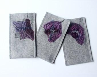 Floral iPhone Sleeve - Purple