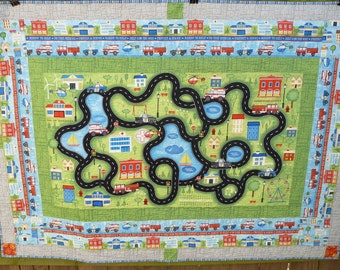 Emergency Responder, Police, Fire, Ambulance, Helicopeter, Quilt Play Mat Blanket