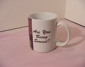 Vintage Coffee Mug Tea, Are You Being Served? TV show British Comedy show, photo graphics | collectible cup home kitchen decor, humor kitsch