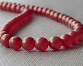 6mm Ruby Sueded Gold Czech Glass Bead 6mm Round Druk : 50 pc Gold Sueded Ruby 6mm Druk