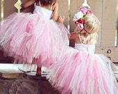 A V I E tutu (size 6-24 mo). CUSTOM COLOR tutu, Flower Girl tutu, Baby tutu, Custom Girls tutu, Birthday tutus, Wedding tutu