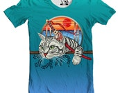 Samurai Cat Men's Graphic Tee T-Shirt, Available in S-3XL