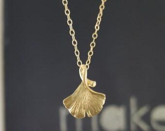 Ginkgo Charm Necklace
