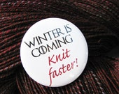 Game of Thrones Knitting Button Badge
