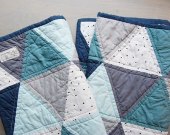 Custom Triangle Quilt-Made To Order-Crib Quilt