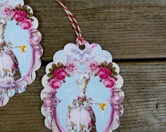 Shabby French Chic Marie Antoinette Gift Tags