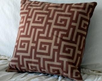 Dayna Square Modern Scatter Throw Pillow / modern bedding / neutral pillow / brown throw pillow / geometric pattern pillow / couch pillows