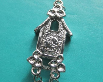 Cuckoo Clock Quirky pewter pendant x 1 62 x 18 mm
