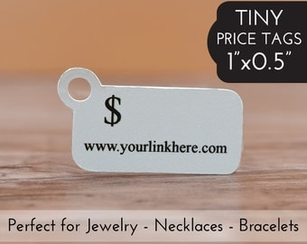 "0.5""x1"" Price Tags - Tiny Jewelry Tags - Packaging Tag Bracelets Necklaces"