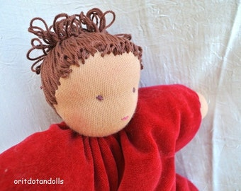Waldorf doll, pillow doll 12inch, for babies and kids, made of natural materials.