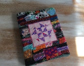 Scrappy Quilt Block Journal - COMPOSITION Notebook Book Cover - urban Gypsy
