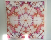 Mandala - 1 yard HAND DYED FABRIC - Tuscan Rose Modern Shibori Cotton - tr152