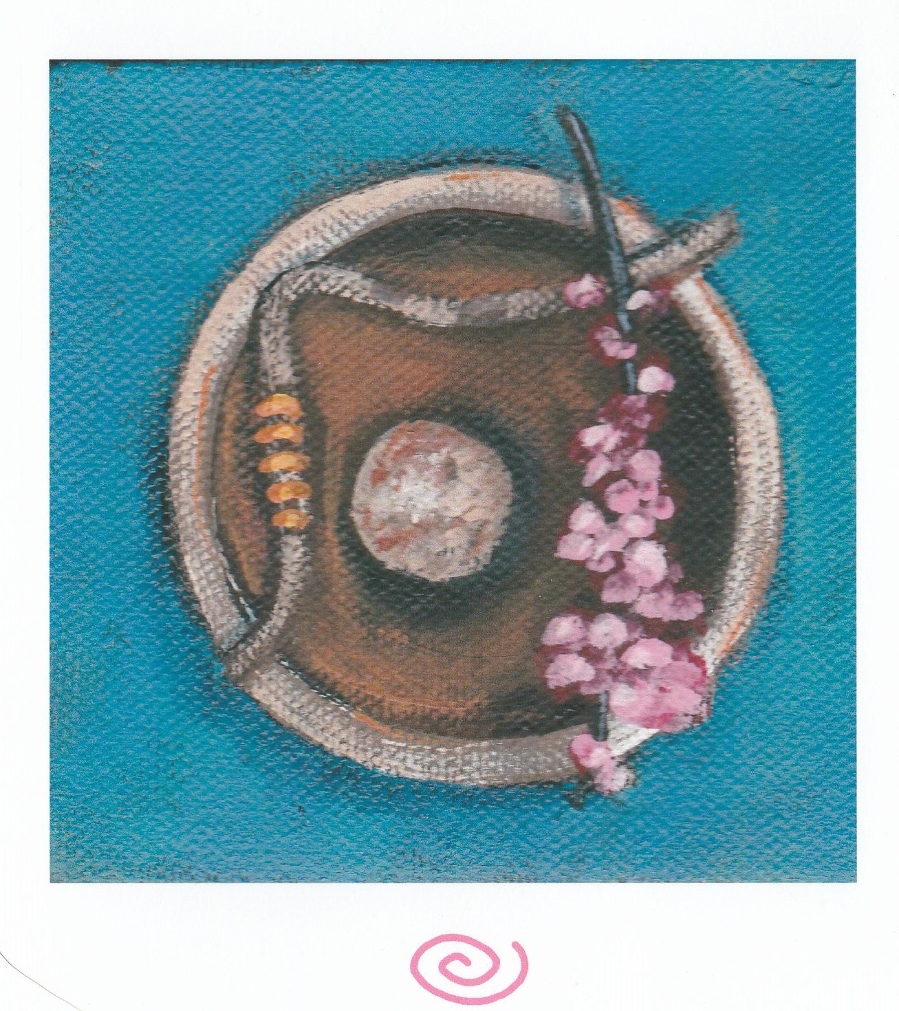 Spring Quartet Blank Greeting Card Zen Peace