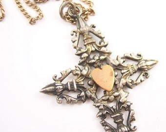 Ornate Victorian Cross Necklace