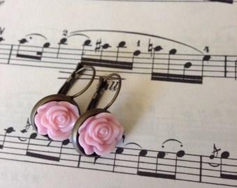 Soft Pink Brass Dangles