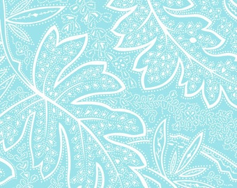 Clothworks, From Skipping stones Studio, Andalusia  Light blue Floral, yard