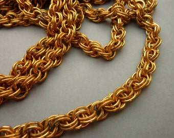 18 in Heavy Brass Vintage Chain Cable 8 mm Links