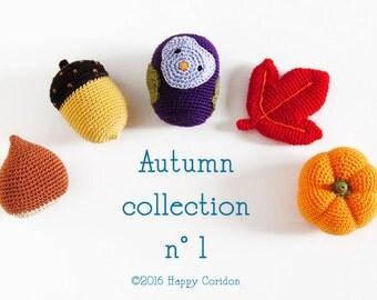 Crochet pattern - Autumn collection n1 - amigurumi toys
