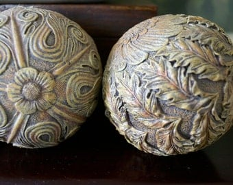 Decorative Accent Balls - vintage decor - basket filler