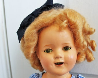 Shirley Temple Doll 15 inches Composition