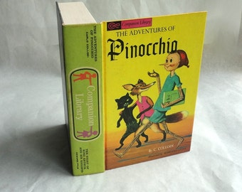 PINOCCHIO Hollow Book Keepsake Box Vintage Book LIAR Kid Fake Book Secret Secret Stash Box Hidden Compartment Groomsman Wedding Party Wooden