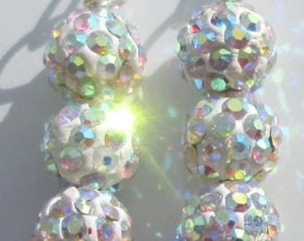 aurora borealis sparkle dazzling metallic pierced dangle hand made wire wrapped earrings by Ziporgiabella