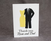 Wedding Thank You Card for Parents/CUSTOM Parent Thank You Card/Thank You Mom and Dad Greeting Card