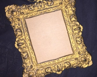 Antique Gold Metal Picture Frame